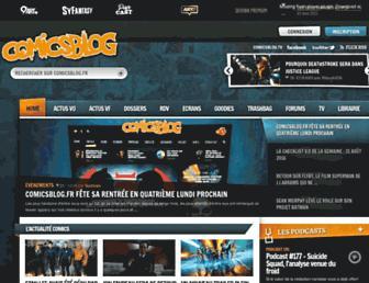 Main page screenshot of comicsblog.fr