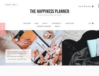 thehappinessplanner.com screenshot