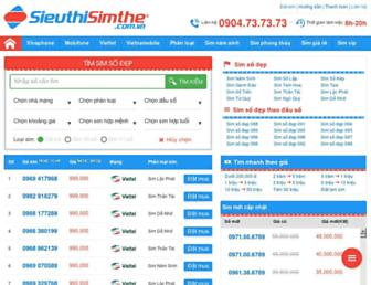 Main page screenshot of sieuthisimthe.com.vn