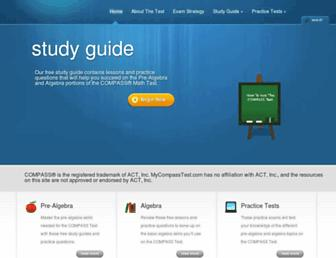 mycompasstest.com screenshot