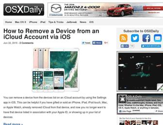 Thumbshot of Osxdaily.com