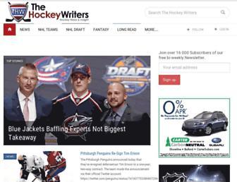thehockeywriters.com screenshot