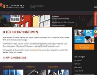 Main page screenshot of schwarz.de
