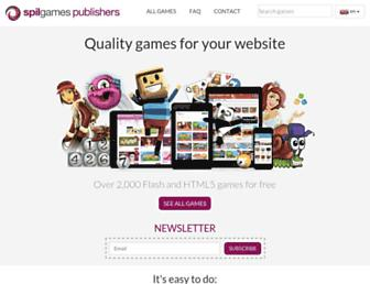 Main page screenshot of gameportal.net