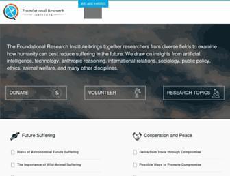 foundational-research.org screenshot