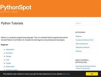 pythonspot.com screenshot