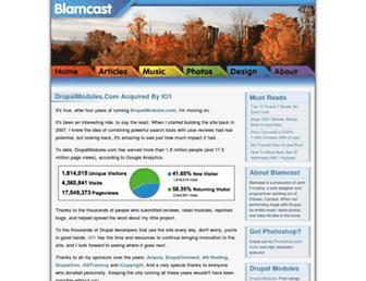 Main page screenshot of blamcast.net