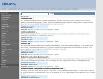 Main page screenshot of click-uri.ro