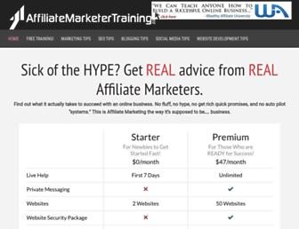affiliatemarketertraining.com screenshot