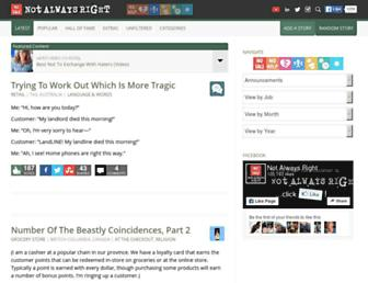Thumbshot of Notalwaysright.com
