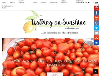 walkingonsunshinerecipes.com screenshot