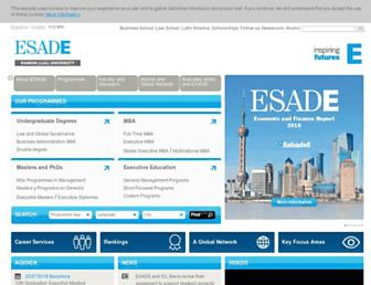 esade.edu screenshot
