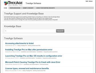 treeage.zendesk.com screenshot