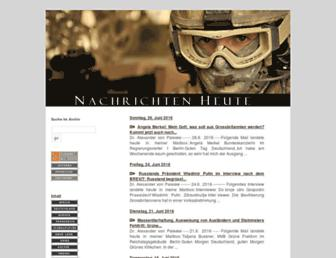 Main page screenshot of oraclesyndicate.twoday.net