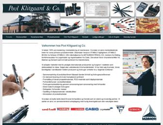 Main page screenshot of p-klitgaard.dk