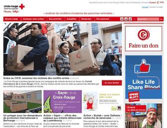 croix-rouge.lu screenshot
