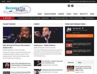becomethesinger.com screenshot