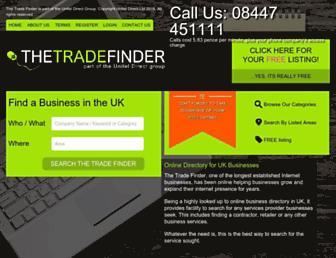 Thumbshot of Thetradefinder.co.uk