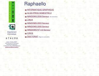 raphaello.univ-fcomte.fr screenshot