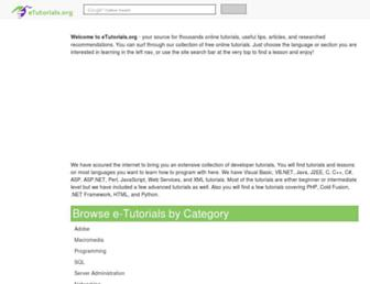 etutorials.org screenshot