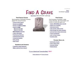 Thumbshot of Findagrave.com