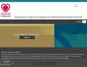 escardio.org screenshot