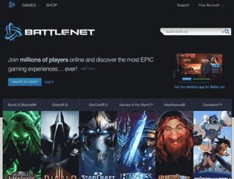 Main page screenshot of battle.net