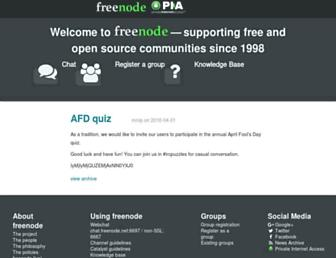 freenode.net screenshot