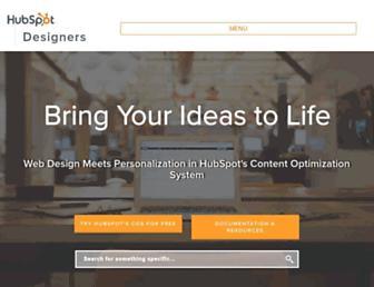 designers.hubspot.com screenshot