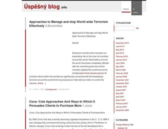 Main page screenshot of uspesnyblog.info