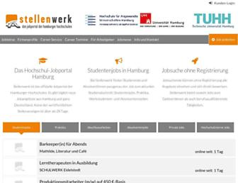 Main page screenshot of stellenwerk-hamburg.de
