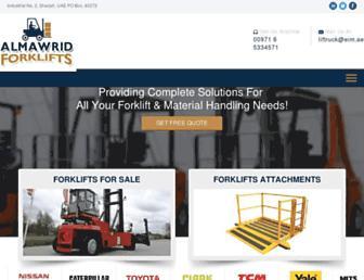 almawridforklifts.com screenshot