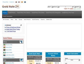 goldrate24.com screenshot
