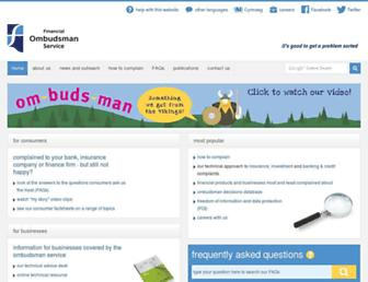 financial-ombudsman.org.uk screenshot