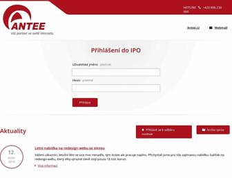 Main page screenshot of ipo.antee.cz