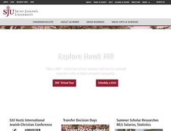 Main page screenshot of sju.edu