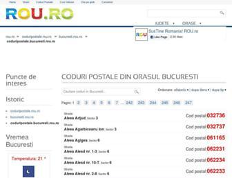 coduripostale.bucuresti.rou.ro screenshot
