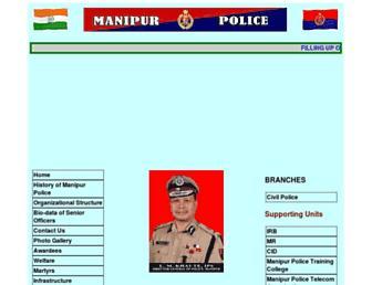 manipurpolice.org screenshot