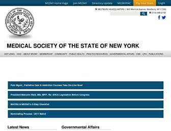 mssny.org screenshot