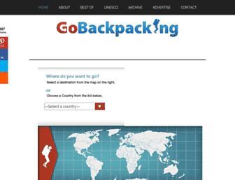 Thumbshot of Gobackpacking.com