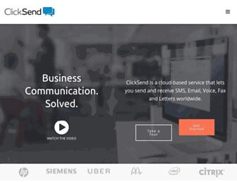 clicksend.com screenshot