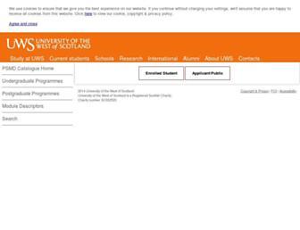 psmd.uws.ac.uk screenshot
