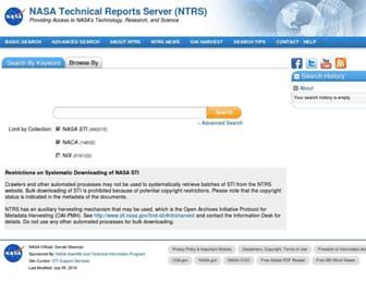 ntrs.nasa.gov screenshot