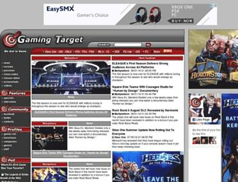 gamingtarget.com screenshot