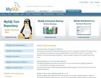 dev.mysql.com screenshot