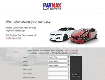 paymaxcarbuyers.com screenshot