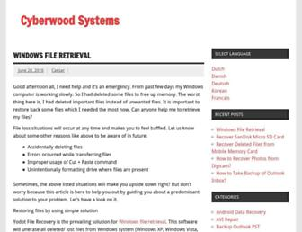 cyberwoods.com screenshot