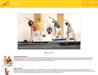 Main page screenshot of yoga-vidya.de