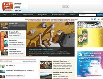 Main page screenshot of doiinunu.ro