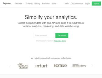 segment.com screenshot
